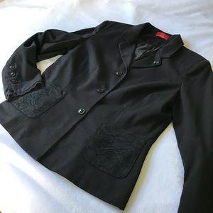 All Black Authentic Lace Oscar de la Renta Blazer